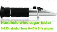 Wholesale Handheld refractometer Wine sugar alcohol concentration meter densimeter alcohol beer Brix grapes ATC off