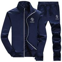 Wholesale Full Sleeve Running Set Men s Sport Suit Autumn Tracksuit For Men Jogging Sportswear Sweatshirt Zipper Hoodies Sweat Pants Set