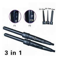 big curling wand - 3 Part Hair Curler Set Hair Rollers Big Size Curling Iron Wands Styling Tools With Free Glove Comb Clips