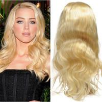Wholesale Platinum Blonde Virgin Brazilian Lace Front Human Hair Wigs Body Wave Glueless Full Lace Blonde Wigs Density Bleached Knots
