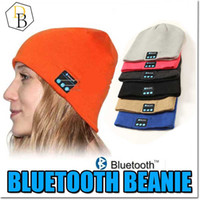 beanies caps - Bluetooth Hat Music Beanie Cap Bluetooth V4 Stereo wireless earphone Speaker Microphone Handsfree For IPhone Samsung Galaxy S7 Music Hat