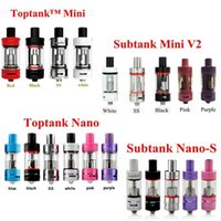 Wholesale Various Colors Kanger Toptank Mini Nano Tank Subtank Mini V2 Nano S Atomizers Single Pack for Kangertech Subox Mini Nano Topbox Subvod Mega