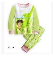Wholesale new long sleeved household to take children s wear pajamas sleepwear children cotton suit
