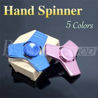 aluminium hand - 2017 New Fidget Spinner HandSpinner Hand Spinner Finger EDC Toy For Decompression Anxiety Stainless Steel Metal Aluminium alloy Toys