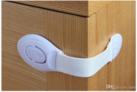 Wholesale 1500pcs Cabinet Door Drawers Refrigerator Toilet Safety Plastic Lock For Child Kid baby safety Lock Protection