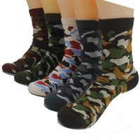 army play - 5 colors new Mens Green army socks brand new Mans cotton Casual ankle Socks summer Camouflage style for team party playing games pair DHL