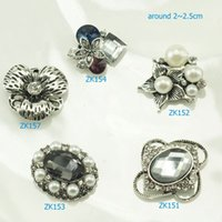 Wholesale Silver Plated Flat Back Hair Clips Material Accessories Handmade Embellishment