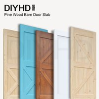 Wholesale 38in in Pine Knotty Sliding Barn Wood Door Slab Two side Style Barn Door