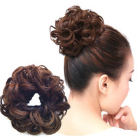 Wholesale Hair Accessories Elasticity Wig With Curl Hair Bands Headdress colors