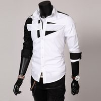 Wholesale Men s casual shirts long sleeve spring hit color Europe and the United States simple fashion colors