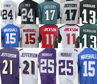 Wholesale Mens Marshawn Lynch Alshon Jeffery Jersey Nelson Agholor DeSean Jackson Brandon Marshall Jefferson Murray Women Youth Football Jerseys