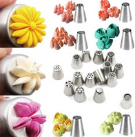Wholesale 1000pcs Russian Tulip Nozzle Perfect For Cake Cupcake Decorating Icing Piping Nozzles Russian Rose Nozzles Tips Cooking Cake tools I016