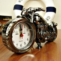 Wholesale Motorcycle alarm clock shape creative retro super high end furnishings boutique style clock cool gifts
