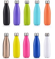 Wholesale Hot Cola Shaped bottle Insulated Double Wall Vacuum high luminance Water Bottle oz ml Creative Thermos bottle Vaccum Insulated