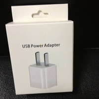 Wholesale retail paper package packing box for us plug wall home adapter charger for iphone s s plus