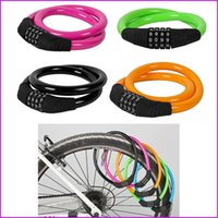 Wholesale Color Bike Bicycle lock Cycling Security Code Password Lock x mm Bike Cable Lock Digital Combination For MTB