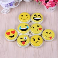 Wholesale Promotional emoji coin purses tin creative head phone storge bags with zipper
