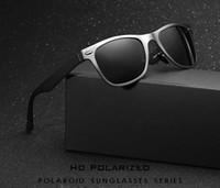 aluminium rectangle - Mirror Pilot Aluminium Full Rims for Men and Women Polarized Sunglasses Driving Outdoor sports Eyewear Glasses UV400