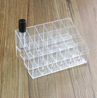 Wholesale plastic lipstick stand case x24 smaller case lipstick display tray makeup organizer organizador Lipstick Holder Display Stand