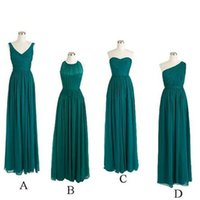 Wholesale Long Chiffon Teal Bridesmaid Dresses Style A B C D Cheap Bridesmaid Dresses Robe Demoiselle D honneur