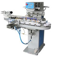 auto pad printing machine - 4 Colors Ink Cup Pad Printing Machine with Auto Clean Ruber Pad System color rotary printing machine Semi automatic rotary printing machine