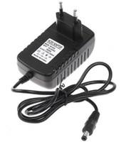 Wholesale 50pcs Freeshipping AC V V to DC V A mm x mm Plug Converter Wall Charger Power Supply Adapter EU US UK plug