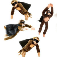 Wholesale Monkey Sling Shot Toys Slingshot Bow Catapult Hunting Slingshot Screaming Flying Play Fun Kids Adults Super Stretchy Plush Toy