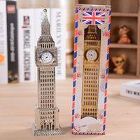 big ben clock - Clock tower Big Ben clock tower in Paris time round metal ornaments home office desktop clock table clock gift
