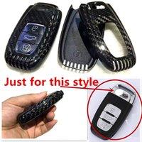Wholesale New Genuine Carbon Fiber Car Auto Key Case Cover for Audi A4 A6 TT Q3 Q5 Car Styling