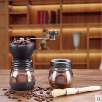Wholesale Whole body wash hand coffee coffee mill manual coffee bean grinder home grinder to send sealed cans