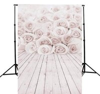 Wholesale 3x5ft Vinyl White Rose wood Wall Floor Photography Background For Studio Photo Props Photographic Backdrop Cloth x m