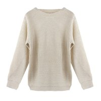 Wholesale Winter Korean Fashion Women Long Sleeve Loose Sweater Knitted Sweaters Knitwear Tops Outwear and Pullovers Jumper Autumn J2