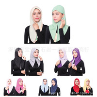 Wholesale Muslim Hijab Chiffon Fashion Both Sides Wear Hijab HS107 EBAY Amazon Best Sellers