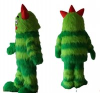 adult santa pictures - Real Pictures Deluxe Green monster mascot costume Adult Size Christmas Fancy dress factory direct