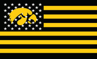 Wholesale Iowa Hawkeyes Flag D Polyester metal Grommets Large Fans Supporters Outdoor Indoor Banner x3ft