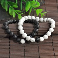 Wholesale 2pcs Couples His Hers Bracelet Lava Bead Matching YinYang Lovers Gift Couple Yinyang Beads Bracelet New