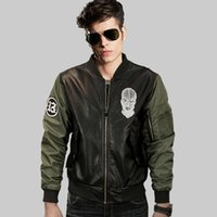bad mood - Street brand men s PU leather bad mood Print motorcycle jackets West Coast MA1 bomber pilots jacket young men baseball Outerwear