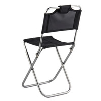 Wholesale JS A Portable Folding Outdoor Fishing Camping Chair Aluminum Oxford Cloth Chair with Backrest Carry Bag Black
