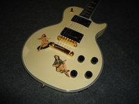 antique pistols - Custom Steve Jones Signature Antique Yellow Sex Pistols Electric Guitar EMG Pickups Black Speed Knobs