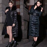 Wholesale Women Winter Coat Fox Fur Hooded Lady Outerwear High Quality Warm Coats Clothing Girls Long Down Parkas