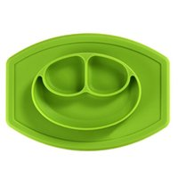 Wholesale New Arrival High Quality Mini Smiling face Platinum Silicon Mat One piece silicone placemat plate