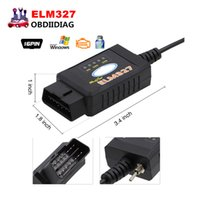 Wholesale 2017 Newest ELM327 ELM USB FTDI chip with switch for Ford HS CAN and MS CAN car diagnostic cable