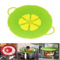 Wholesale Multi function lid Spill Stopper Silicone Cover Cooking Tools Flower Cookware Parts Green Silicone Boil Over Spill lid Stopper Oven Sa wn014