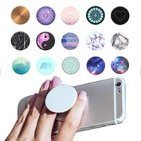 Wholesale 10X Retail Package Color PopSockets Expanding Stand and Grip for Tablets Stand Bracket Cell Phone Holder Pop Socket M Glue for iPhone