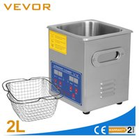 Wholesale 2L ULTRASONIC CLEANER CLEANING Stainless Steel Heater Timer Bracket Jewelry commercial wash machine