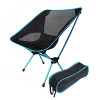 Wholesale Black Blue Chair One Compact Folding Camp Chair Moon Chair