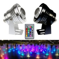 Wholesale 10W Outdoor Landscape Lighting RGB Remote Control LED Underwater Lights IP68 RGB Floodlight for Swimming Pool and Fish Pond