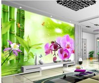 bamboo wallpaper - d customized wallpaper Bamboo orchids wallpapers for living room modern living room wallpapers Home Decoration