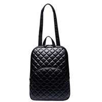 Wholesale PU School Bags Rhombus Lattice Immitation Leather Shoulder Bag Classic Desinger Women Backpack for Short Trip