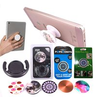 Wholesale PopSockets Without logo Expanding Grip Stand Cell Phone Holder Pop Socket M Glue Bracket Mount For Iphone Plus